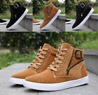 New Fashion Mens High Top Suede Athletic Sneakers Running Sport Casual Shoes