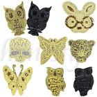 1Pcs Sew On Embroidered Animal Skull Applique Sequins Beaded Applique Patch DIY