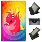 Mythical Magical Unicorns Dressing Up Universal Leather Case For LG Tablets