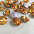6mm Rivoli Rhinestones Point back Crystal Glass Facet Chaton Stones 200ps C1