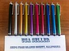 Lot of 10 Premium Metal Stylus Touch Screen Pens - CHOOSE FROM 13 COLORS - NEW