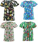 Внешний вид - Christmas Scrub Tops Size XS-4XL New Nursing Medical Scrub Tops Holiday Prints