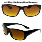 BIFOCAL Sunglasses MEN'S SPORT WRAP HIGH DEFINITION ONLY 1.75 &2.50 ANTI-GLARE