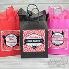 Hen Party Night Bag Gift Favour Personalised | Coloured Tissue Paper | Empty