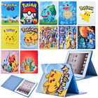 Pokemon Go Cartoon Leather Kids Stand Case Cover For iPad 2 3 4 5 6 ​Air Mini
