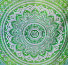 Indian Wall Hanging Green Tapestry Mandala Tapestries Hippie Decor Queen Throw