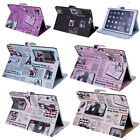 Newspaper Leather Flip Smart Cover Case Stand For Apple iPad 2/3/4 mini Air 1/2