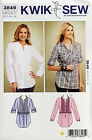 KWIK SEW PATTERN TUNIC SLEEVE VARIATIONS & LACE OVERLAY OPTION SIZE XS-XL # 3849