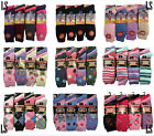 6 -12 Pairs Ladies/Womens Winter Warm Thermal Hike Boot Socks Extra Thick 4 - 7