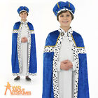 Child Blue Wise Man Costume Boys Christmas Nativity Fancy Dress Outfit New