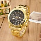 Luxury Mens Watch Date Gold Stainless Steel Analog Quartz Business Wrist Watches