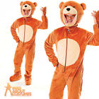 Adult Big Head Teddy Bear Mascot Fancy Dress Costume Jungle Ted Outfit