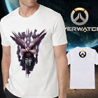 Men's new cotton overwatch logo reaper white Tshirt Crew Neck Short Sleeve tee
