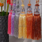 Pair Crystal Tassel Beaded Tieback Window Curtain Fringe Tie Backs Decor Stylish