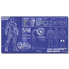 Iron Man Blueprint Poster Home Wall Decor