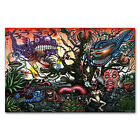Psychedelic Trippy Abstract Art Poster