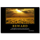 REWARD - Motivational Quotes Art Poster Home Decor