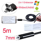 Other Gadgets - USB Endoscope 5m 6 Pc LED Waterproof Borescope Inspection Camera Android Video