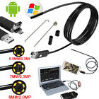 USB Endoscope 5m 6 pc LED Waterproof Borescope Inspection Camera Android video