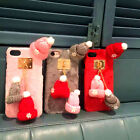 NEW Christmas Pendant Hand Made Hat Flannelette Case Cover for iPhone 6 7 S Plus