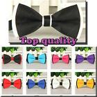 Men's Solid Color Classic Bowtie Pre Tied Wedding Satin Bow Tie Neckwear