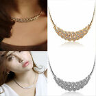 Fashion Jewelry Pendant Chain Crystal Choker Chunky Statement Charm Bib Necklace