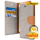 For iPhone 7 Canvas Diary Flip Stand Cover Card Wallet Case GOOSPERY [OUTLET]