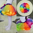 TopTie Girls Layered Rainbow Tutu Skirt Ballet Dance Party Dress Ruffle Tiered
