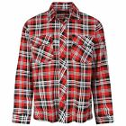 Mens Full Cotton Checked 2 Chest Pocket Flannel Lumber Jack Winter Shirt Size