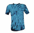 Tie Dye Turquoise Navy Spiral T-Shirt