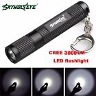 Mini 3000LM Zoomable CREE Q5 LED Flashlight 3 Mode Super Bright Police Torch