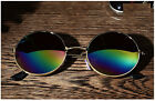 Men Women Retro Vintage Round Mirrored Sunglasses Eyewear Outdoor Sports Glasses