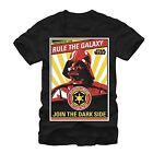 Star Wars Vader Together We Can Rule The Galaxy Black Men's T-Shirt New $9.99 USD