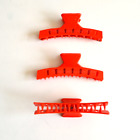 Vintage Plastic marcel finger wave clamps 8cm x 6 Hair Clips FOR THICK HAIR