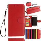Genuine Leather Flip Credit Card Slot Stand Cover Case Wallet For Phone Case