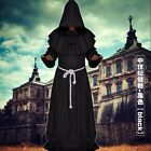 Friar Medieval Monk Robe Renaissance Priest Hooded Cloak Cape Costume Cosplay