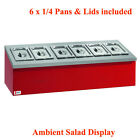 PARRY AMTT TABLE TOP AMBIENT SALAD BAR DISPLAY STORAGE PANS & LIDS INCLUDED