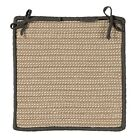 Boat House Indoor Outdoor Braided Square Chair Pad, Tan with Gray Border