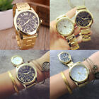 Gold Plated Women Geneva Quartz Analog Wristwatch Casual Dress Watch New Fashion