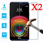 2Pcs Premium Tempered Glass Film Screen Protector Cover For LG X Power / Screen