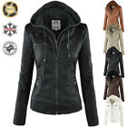 Womens Winter Coats Casual Slim Hooded Parka Overcoat Jacket Trench Warm Outwear