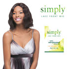 Simply 100% Brazilian Virgin Remy Human Hair Lace Front Wig - NATURAL WAVE BOB