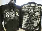Sons of Anarchy Hoodie Sweatshirt Cities TV Show SOA New 421 Medium Only