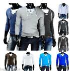 Fashion Men's Top Sweaters V-neck Sport Pullovers Casual Hoodies Long Shirts NEW