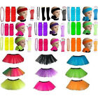 NEON TUTU HEADBAND WRISTBANDS BEADS NECKLACE LEGWARMERS GLOVES LOT 80S COSTUME