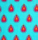 Delilah Paisley Fabric Turquoise  Timeless Treasures Quilting Cotton FQ BTHY BTY