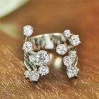 Hot New 925 Silver Filled White Sapphire Birthstone Engagement Wedding Ring 6-10