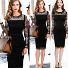 Women Office Lady Business Wear To Work Evening Party Bodycon Lace Mini Dresses