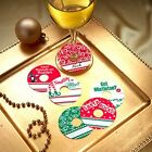 Christmas Party Personalized Wine Glass Tags  Set of 24
