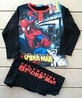 NWT Youth Amazing Spiderman Pajama Set Black w/Red Letters Sizes 6 & 10